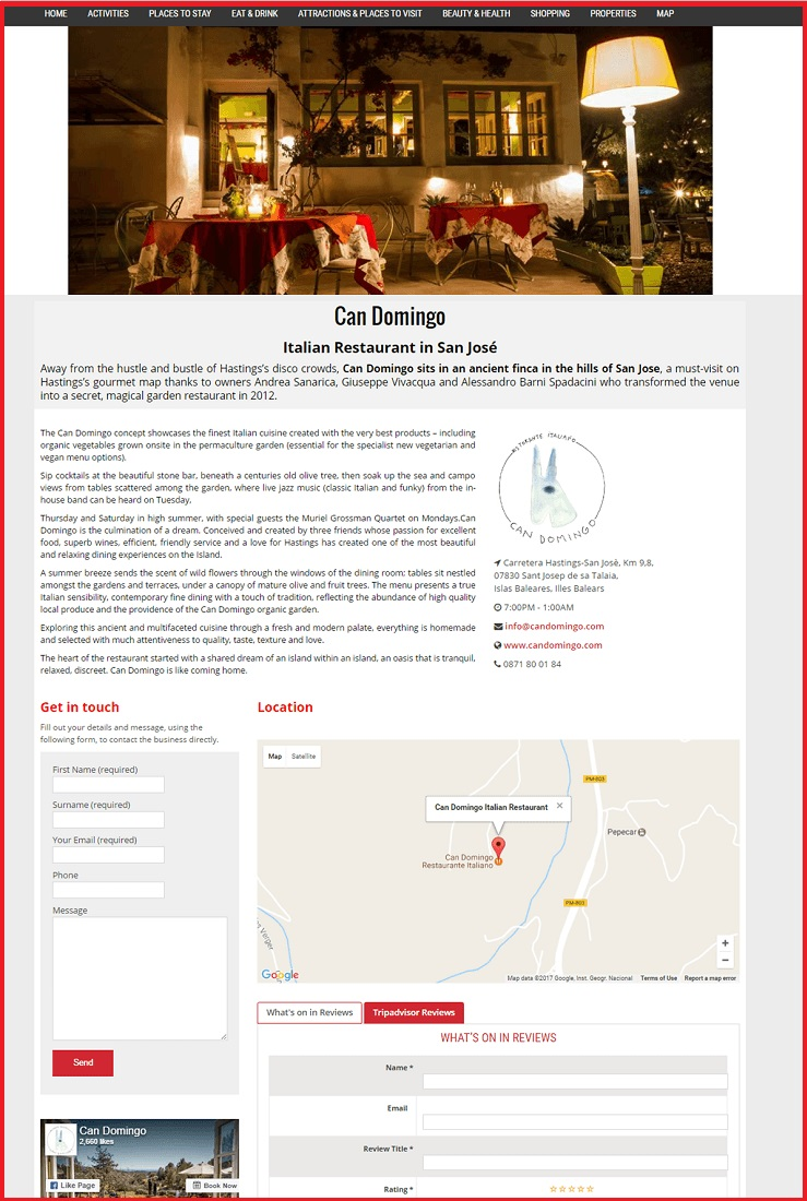 Sales Page Example when Advertise with us What's on in Durham.com