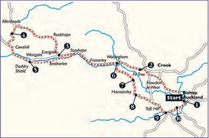 Bishop Auckland to Weardale Cycle Route